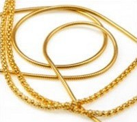 Broken gold necklaces